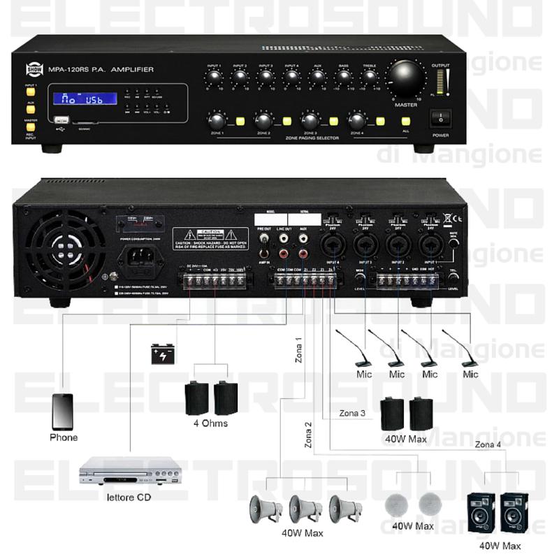 Impianto di filodiffusione per attivit commerciale - Impianto audio casa incasso ...